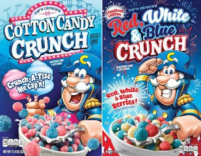 Cap/'n Crunch/'s Cotton Candy Crunch Breakfast Cereal 11.4 oz NEW