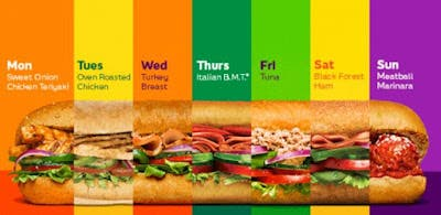 """Subway Launches """"$6 Footlong Sub of the"""