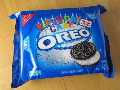 Tremendous Review Nabisco Birthday Cake Oreo Cookies Brand Eating Funny Birthday Cards Online Elaedamsfinfo