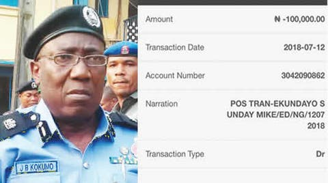 Policemen extort N100,000 from building contractor through POS