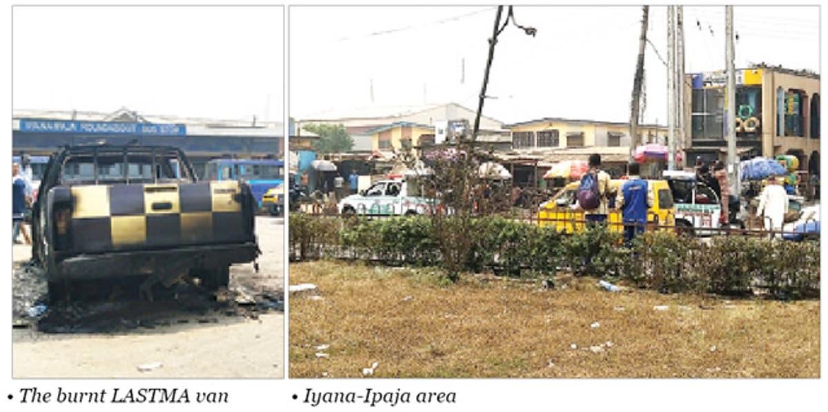 Image result for Okada ban: Schoolgirl shot, LASTMA, police vehicles destroyed.