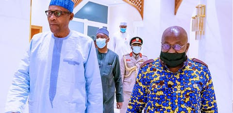 Nigeria, Ghana Relation: Nana Akufo-Addo Visit Buhari At Presidential Villa