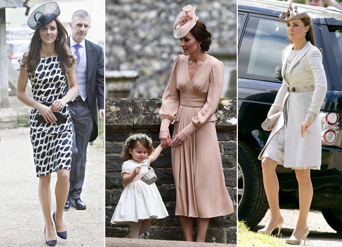 A Look Back At Kate Middleton S Wedding Guest Style Through The Years