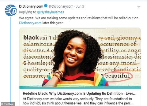 Dictionary com to Update the Definition of 'Black' After