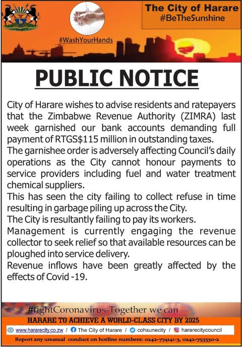 City Of Harare Garnished