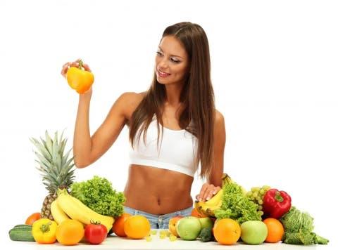 está perdiendo peso principalmente dieta