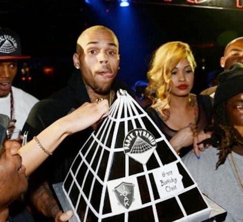 Fabulous Chris Brown Flaunts Illuminati Birthday Cake Information Nigeria Personalised Birthday Cards Veneteletsinfo
