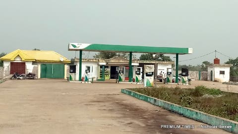 Forte Oil filling Station, Gbaji, shut in compliance with the restriction of supply of petroleum products to border communities