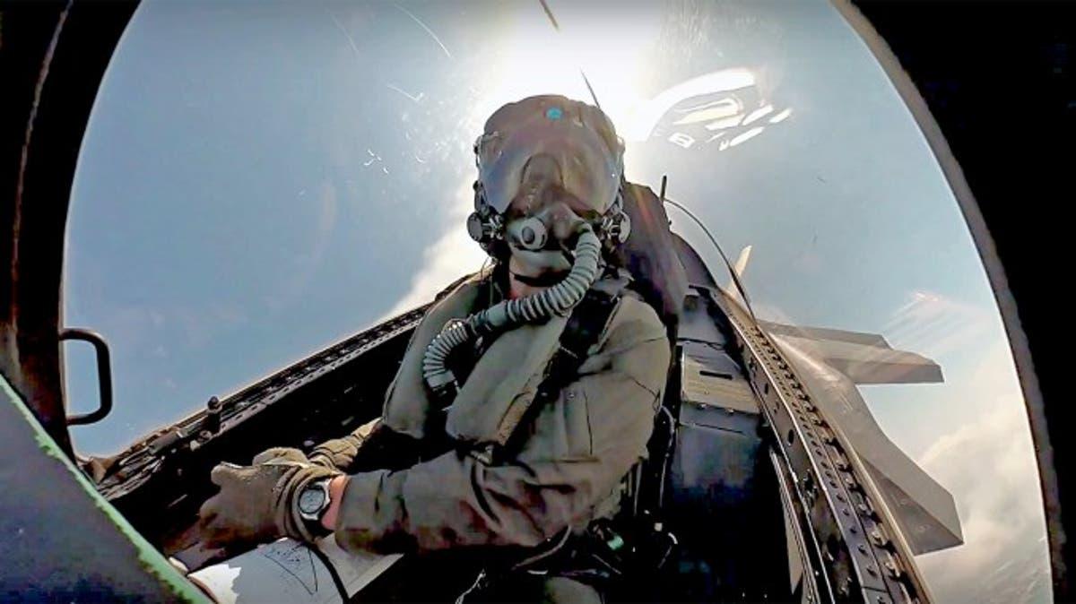 US Air Force F-35A Demo Team Avionics Member Flies in an F-16