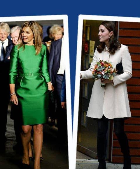 133f504c4 Estilo Real  del look mini de Kate Middleton al vestido vibrante de Máxima