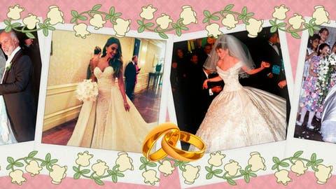 65e9bad9e Vestido novia  Los cuatro vestidos de novia aún más ostentosos que ...