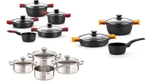 Alb Set de cocina 3 piezas para camping en acero inoxidable