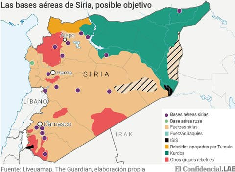 Guerra De Siria Mapa.Guerra En Siria Trump A Punto De Atacar Siria Pese A Rusia