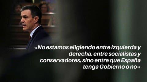 Las Frases De Pedro Sánchez En Su Investidura No Puede