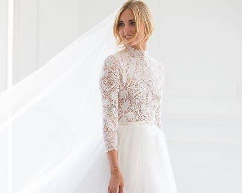 d0a6842a54 Vestidos de boda  Chiara Ferragni y Fedez