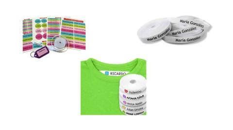 50 etiquetas textiles acrílico