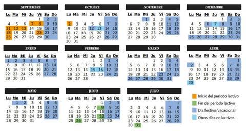 Calendario Calendario Escolar Del Curso 2017 2018 Festivos