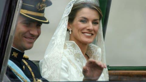 El vestido de novia de letizia