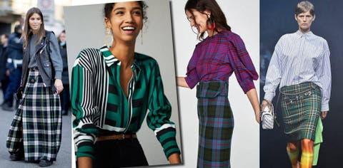 e83c0051 Falda escocesa, camisa de rayas, la nueva tendencia estrella que ...