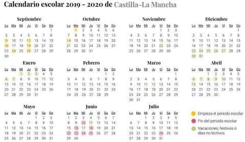 Calendario Escolar 2019 2020 Para Castilla La Mancha