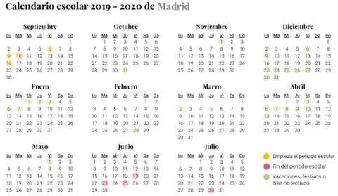 Calendario Escolar 2019 2020 Cuándo Es La Vuelta Al Cole