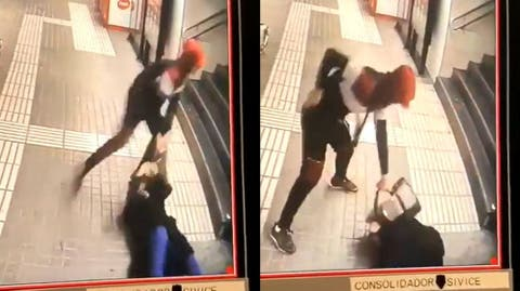 Vídeo: La brutal paliza en el Metro de Barcelona a una mujer
