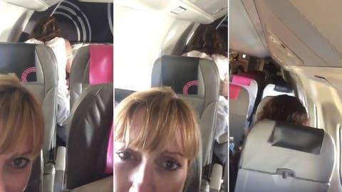Video Una Pareja Comenzo A Hacer El Amor En El Avion Asi