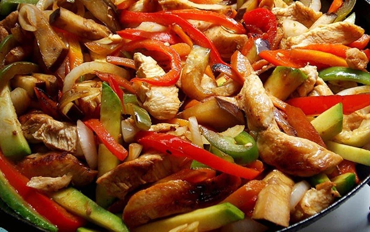 wok de verduras y pollo receta
