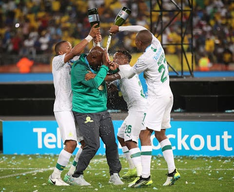 Image result for Pitso Mosimane and Sundowns players