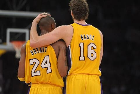 Image result for kobe and pau gasol""