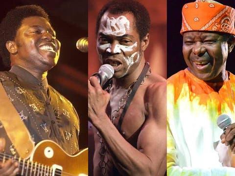 Image result for Fela Kuti , king sunny ade and shina peters