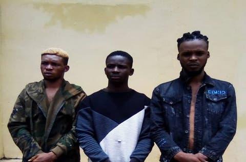 Police nab 3 men