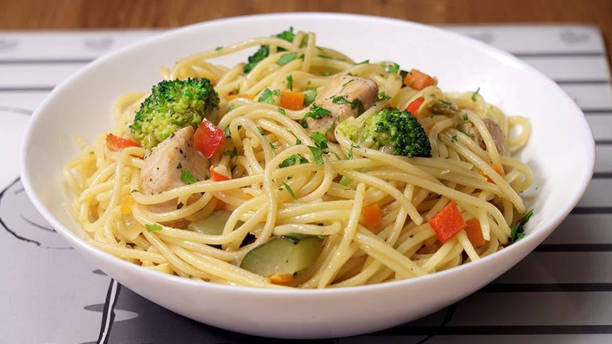 Espaguetis Con Verduras Y Pollo Cocina Casera Y Facil
