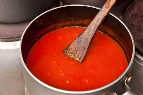 como freir el tomate triturado