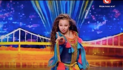 Little Girl Performs Moroccan Dance at Ukraine's Got Talent